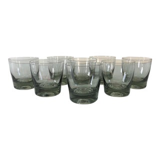 Smoked Glass Small Bar Tumblers, Set of 8 For Sale