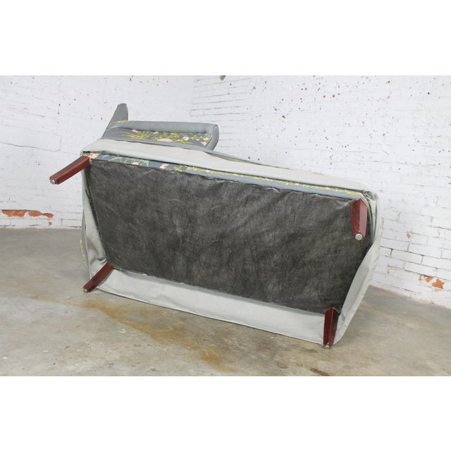Vintage 1940's Newly Upholstered Double Armed Chaise Lounge - Image 9 of 11