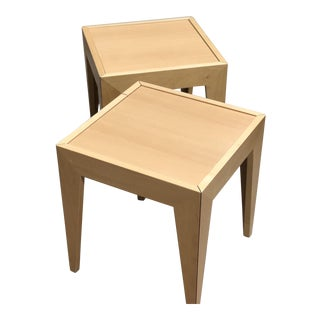 Cassina Maple End Tables - A Pair