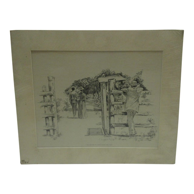 C1899 Print Tis Better to Have Loved and Lost J. Campbell Phillips For Sale