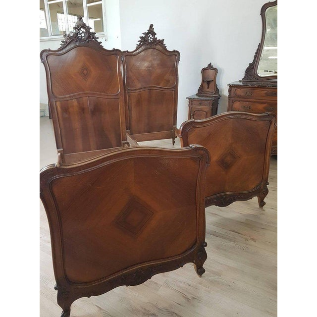 19th Century Italian Louis XV Rococò Style Wood Carved Bedroom Set For Sale - Image 11 of 13