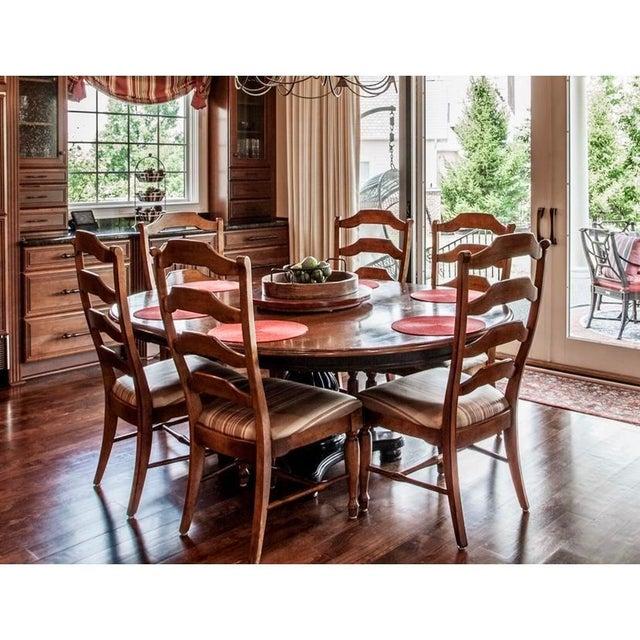 Nichols & Stone Nichols & Tone Antiguine Pedestal Table Dining Set - 7 Pieces For Sale - Image 4 of 13