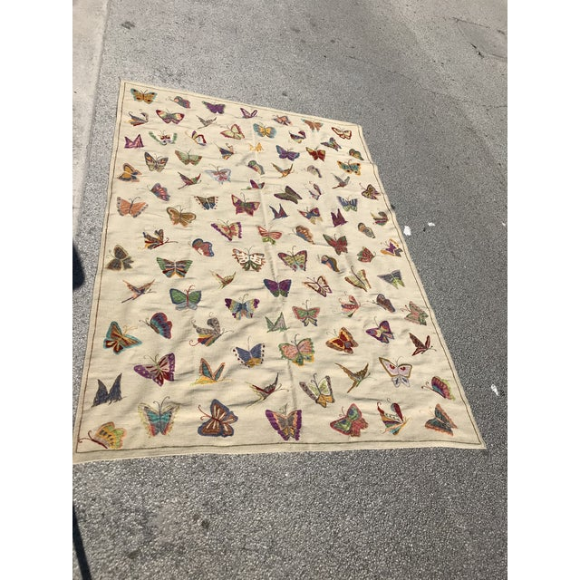 Handmade Butterfly Kilim Rug - 6′9″ × 9′10″ - Image 4 of 4