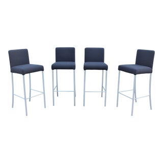 Modern Coalesse and Steelcase Dark Gray Switch Bar Stools Design Eoos - Set of 4 For Sale