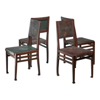 Set of 4 Otto Wytrlik Jugendstil Chairs For Sale