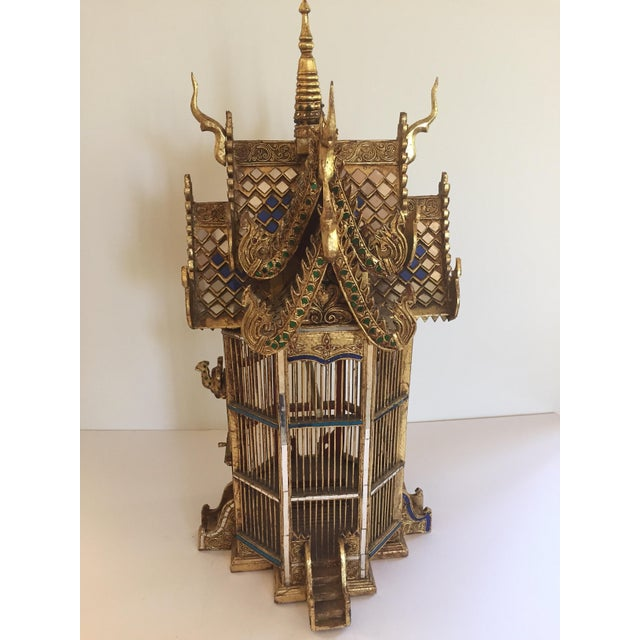 Asian Spirit House Thai Shrine Temple Bird Cage For Sale - Image 4 of 12