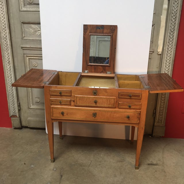 18th Century Louis XVI Dressing Table, Coiffeuse For Sale - Image 4 of 13