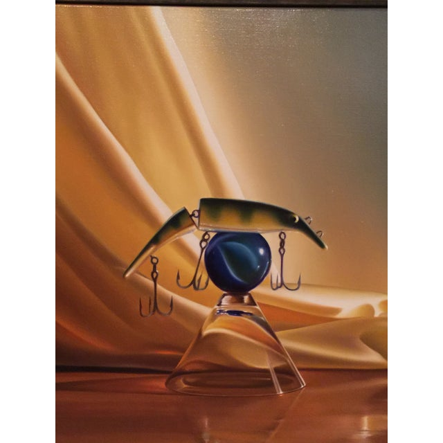 """Michael Zigmond """"Fish Bowl (The Lure of the Martini) Painting - Image 3 of 8"""