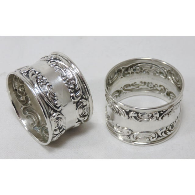 Vintage Victorian Gorham Sterling Silver Napkin Rings - a Pair For Sale - Image 12 of 12