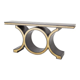 Transitional Global Views Link Console Table For Sale