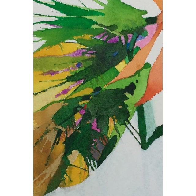 """Burst of Orange"" Original Watercolor - Image 3 of 3"