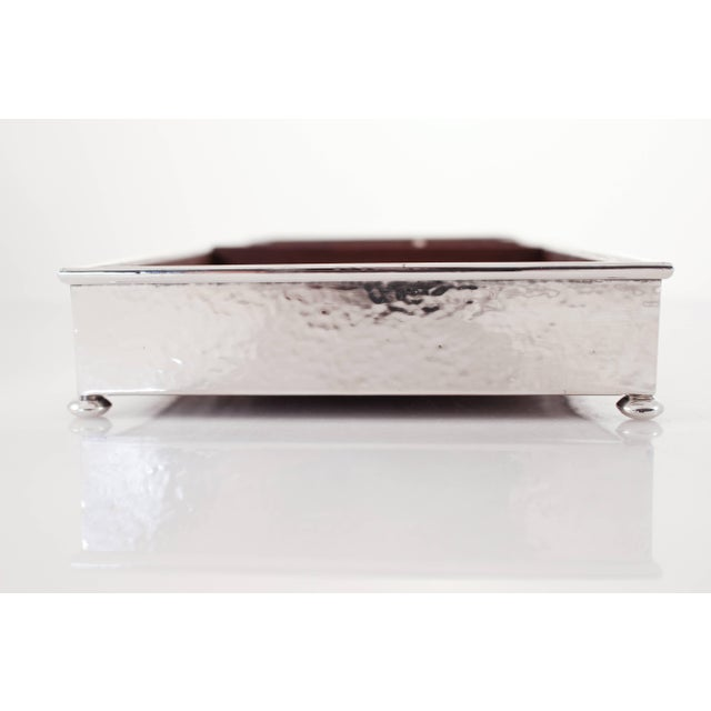 Sterling Silver Desk Organizer For Sale - Image 4 of 5