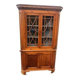 Late 19th Century Pine Corner Cupboard For Sale