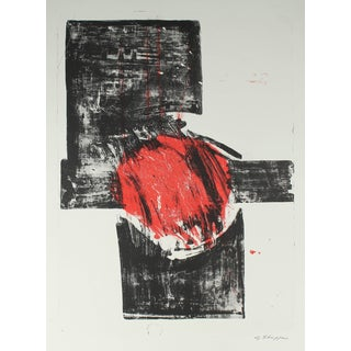 Gary Lee Shaffer Abstract Expressionist Stone Lithograph, 1965 1965-1966 For Sale