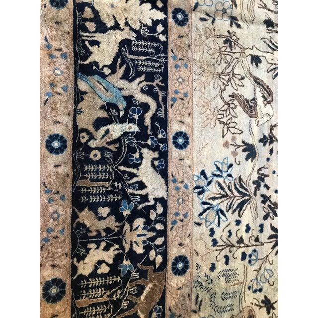 Antique Tabriz Pictorial Wool Rug - 9′4″ × 12′4″ For Sale - Image 9 of 11