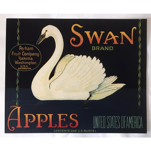 1930s Vintage Swan Brand Apple Fruit Crate Label - Image 2 of 6