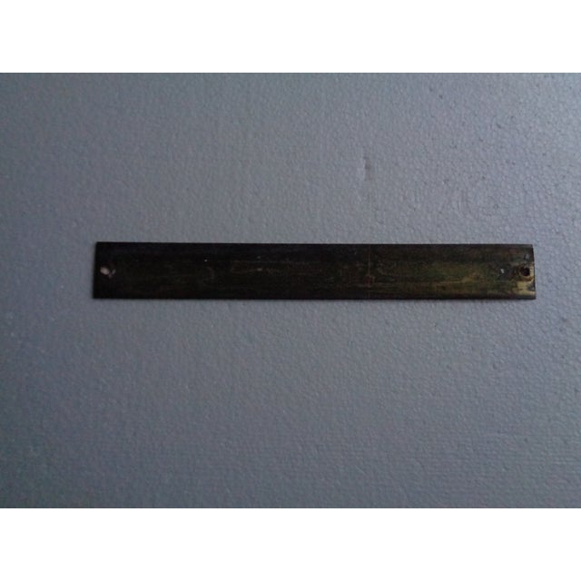 Vintage mid-century engineering sign or plaque - 'Certified for Master'. Made of brass. In good condition. Does not...