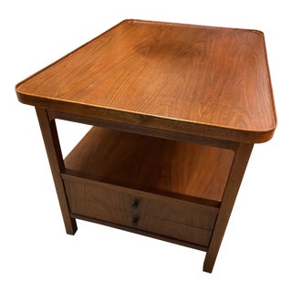 Jack Cartwright for Founders Walnut Side Table For Sale