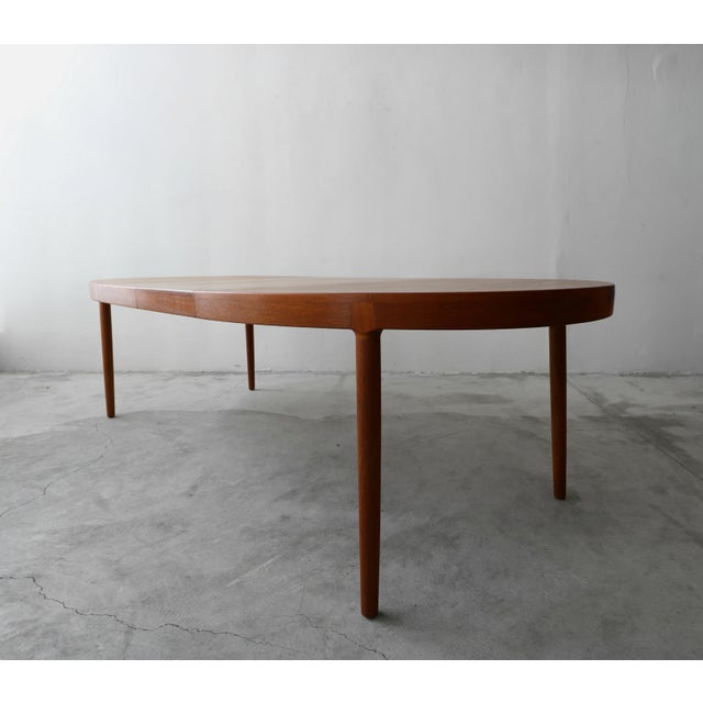 1960s Mid Century Danish Teak Oval Dining Table by Harry Ostergaard for A/S Randers For Sale - Image 5 of 11