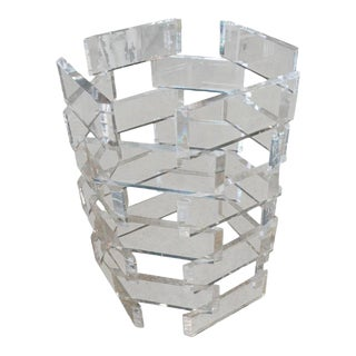 Stacked Brick Architectural Lucite Dining Table