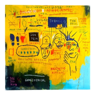 "Jean Michel Basquiat Estate Fine Art Lithograph Pop Art Print "" Hollywood Africans "" 1983 For Sale"