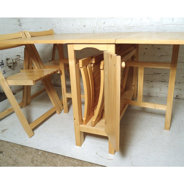 Mid-Century Modern Drop Leaf Table For Sale - Image 4 of 9