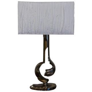 Mid-Century Modern Italian Chrome Table Lamp For Sale