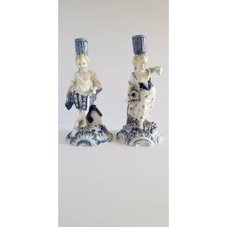 Antique Meissen Porcelain Candlesticks-A Pair Preview