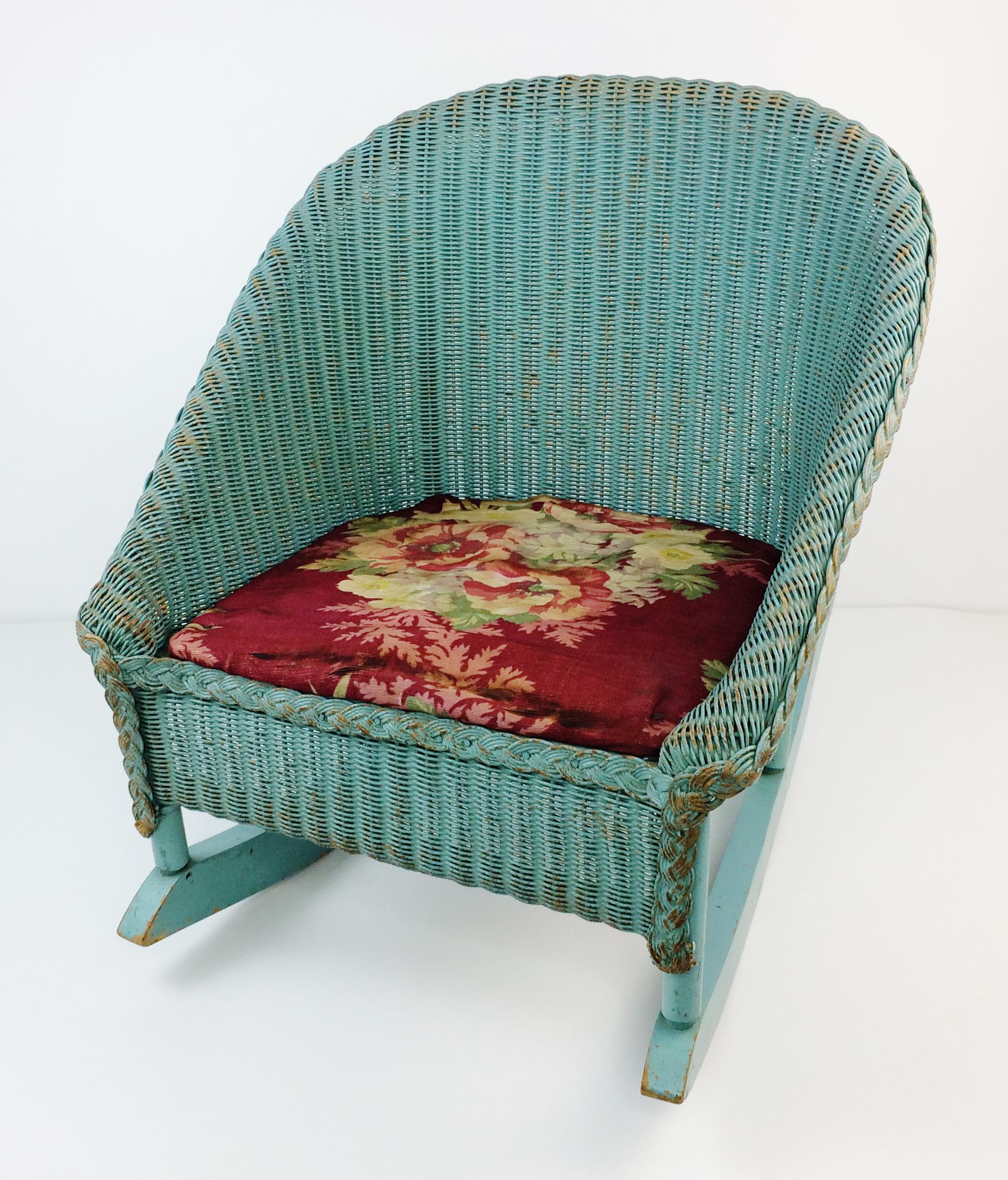 This Charming Little Wicker Rocking Chair Would Look Wonderful In A Nursery  Or Childrenu0027s Library Corner