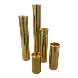 Brass Candle Holders - Set of 5