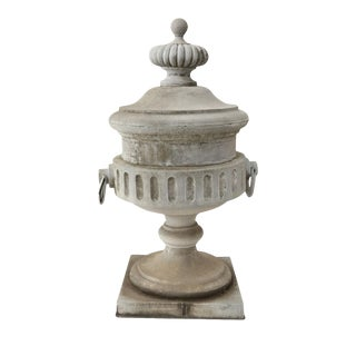 Monumental Urn-Shape Zinc Finial For Sale