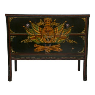 Nautical Painted Chest For Sale