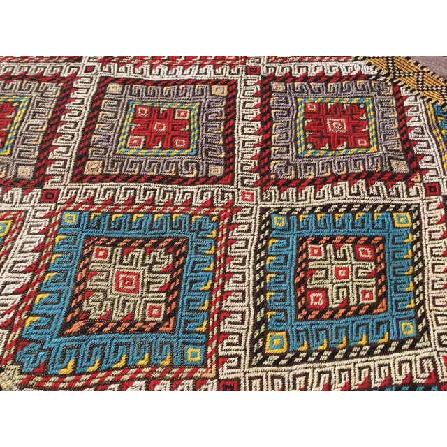 Textile Vintage Turkish Embroidered Runner For Sale - Image 7 of 11