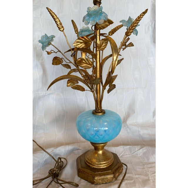 Mid 20th Century Murano Floral Bouquet Lamp For Sale - Image 4 of 11