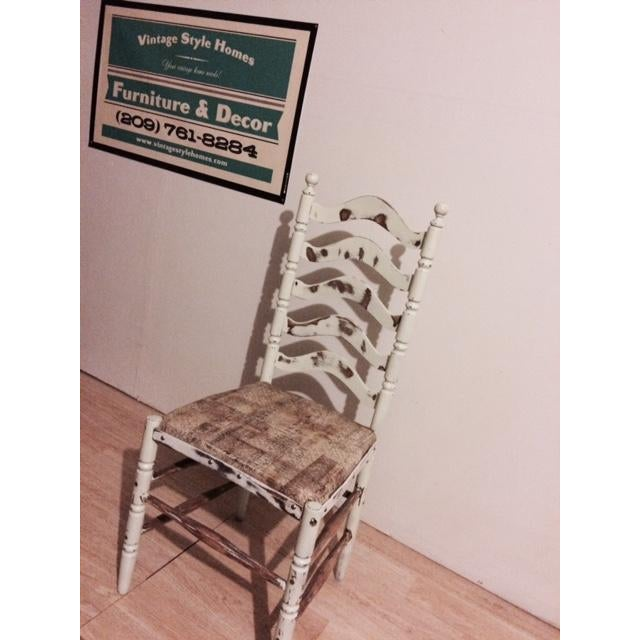 Shabby Chic Ladder Back Chair - Image 6 of 6