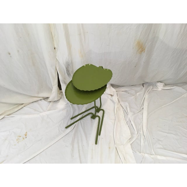 Salterini Green Lily Pad Tables, S/2 - Image 2 of 10