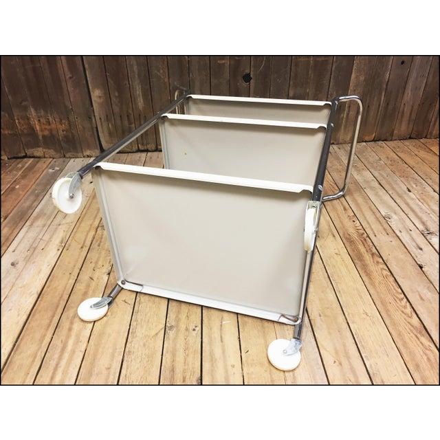 Mid Century Modern Beige Metal Cosco 3 Tier Cart - Image 10 of 11