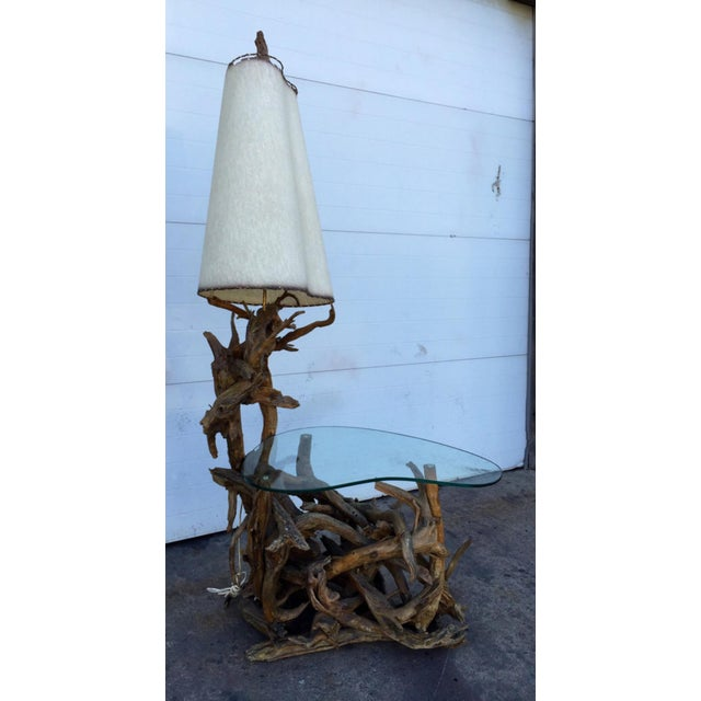 Driftwood Lamp & Built in Table - Image 2 of 6