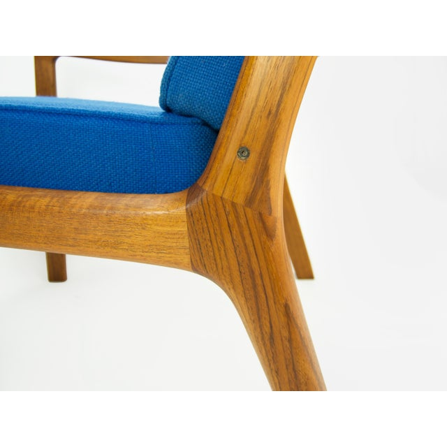 Blue Ole Wanscher for France & Son 'Senator' Armchair For Sale - Image 8 of 13