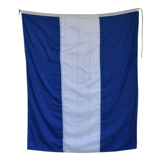 "Vintage Maritime Nautical Boating Signal ""J"" Flag For Sale"