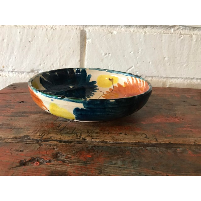 Vintage Mexican Pottery Decorative Bowl For Sale - Image 4 of 11