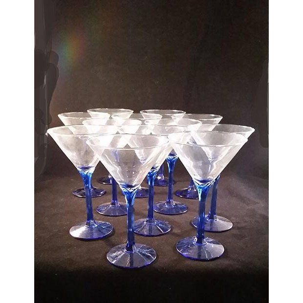 Blue Stem Martini Glasses - Set of 12 - Image 4 of 5