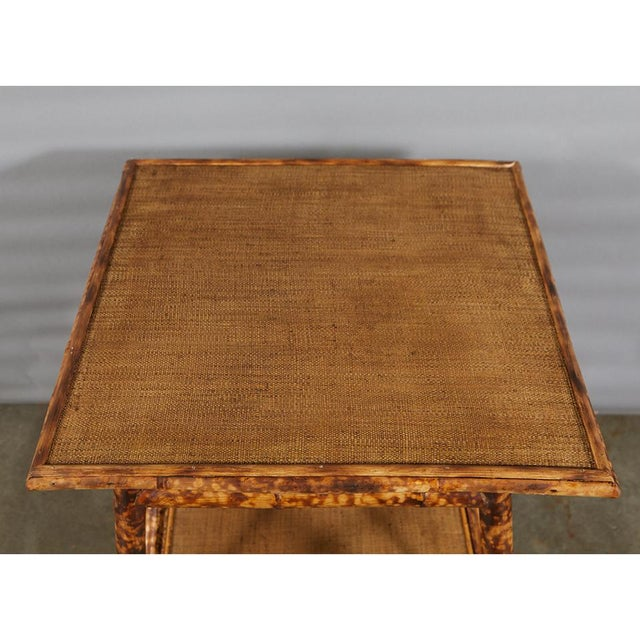 Late 19th Century Tiger Bamboo Side Table For Sale - Image 5 of 6