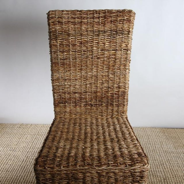 Rattan Dining Chairs - Pair - Image 4 of 8