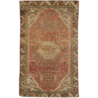 20th Century Turkish Oushak Accent Rug - 4′ × 6′6″ For Sale
