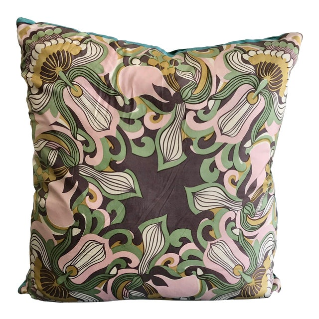 Modern Mid Century Style Scarf Decorative Pillow For Sale