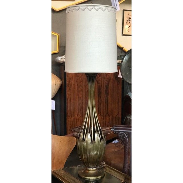 1950s Hans Grag Bronze Table Lamp For Sale - Image 5 of 5