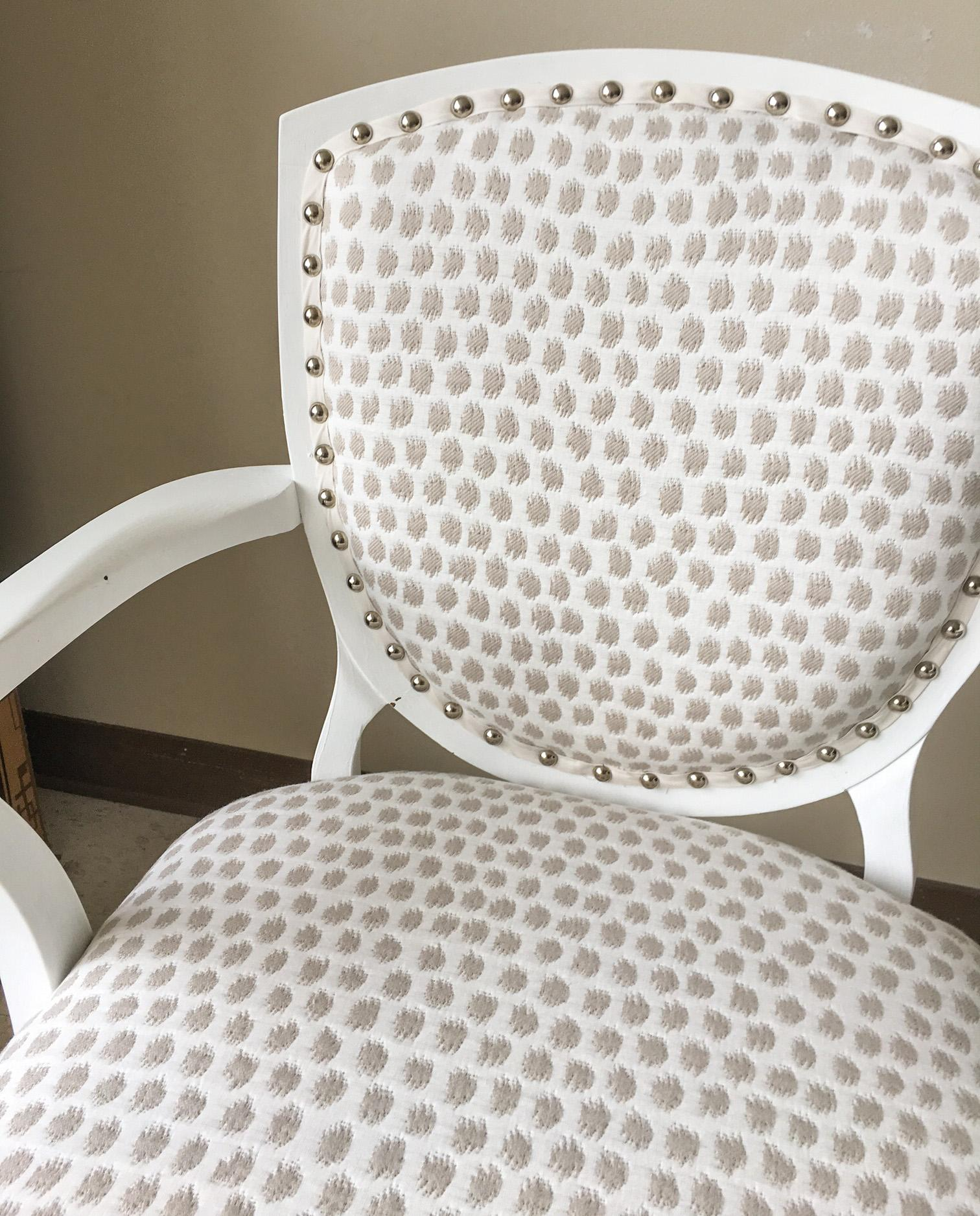 Scalamandre Upholstered Vintage Dining Chairs, Set Of 4   Image 6 Of 9
