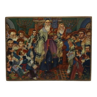 """Vintage Mounted Color Print """"Jubilation"""" by Arthur Szyk For Sale"""
