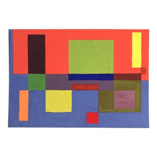 1955 Mid-Century Modern Abstract Painting by Artist Phyllis Myrick For Sale